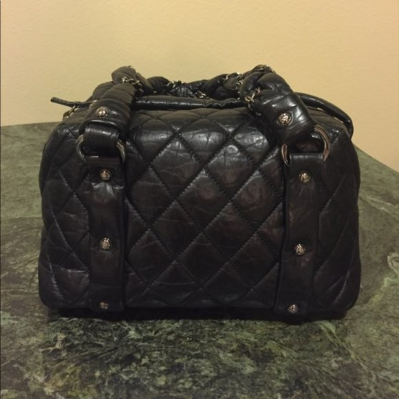 CHANEL Handbags - Chanel Square Quilted Leather Embellished Tote